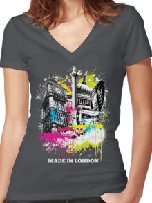 Made in London Women's Fitted V-Neck T-Shirt