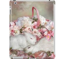 Easter Surprise - Bunnies And Roses iPad Case/Skin