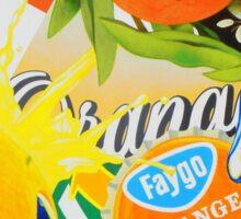"""Orange Painting 1"" Sticker"