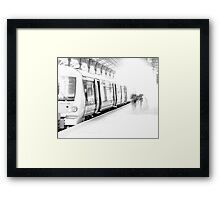 Calm before the rush hour storm Framed Print