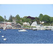 A View from Napatree Point - Bay Street - Watch Hill 2015 Photographic Print