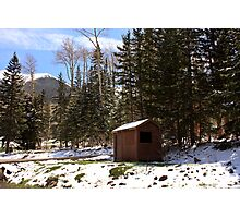 Little Shack in the Snow Photographic Print