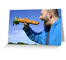 an unfeasibly large carrot Greeting Card