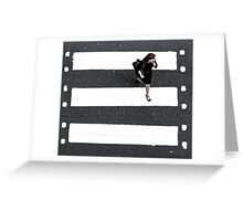 film crossing Greeting Card