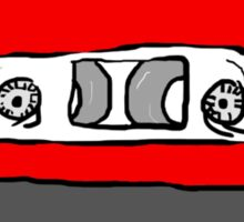 Red Mix Tape Sticker