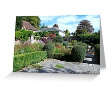 The Dutch Garden at Stansted House Gardens Greeting Card