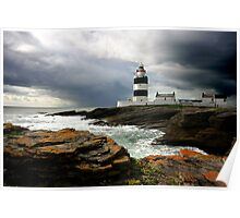 Storm Brewing at Hook Head Lighthouse Poster