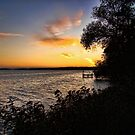 Sunset From The Shore by EbelArt