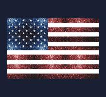 USA flag red & blue sparkles One Piece - Short Sleeve