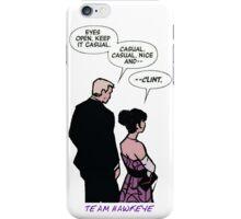 team hawkeye clint barton kate bishop young avenger iPhone Case/Skin