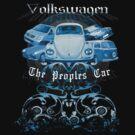 Volkswagen Tee Shirt: People's Car - Blue by KombiNation