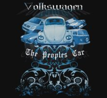 Volkswagen Tee Shirt: People's Car - Blue by KombiNation
