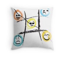 Smilers Never Lose, and Frowners Never Win-For Prints Throw Pillow