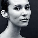 Portrait of a ballerina by Daniel Sorine