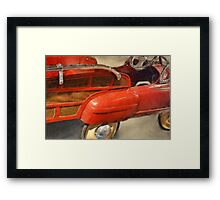 Fire Truck Pedal Car Framed Print