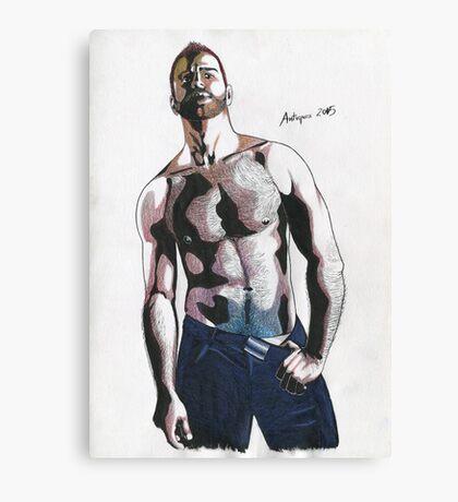 Colored pencil man Canvas Print