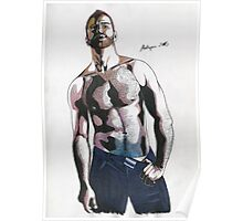 Colored pencil man Poster