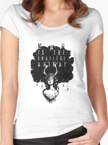 True Detective fan art Women's Fitted Scoop T-Shirt