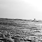 Kite Surfer b&w by Jeff Harris