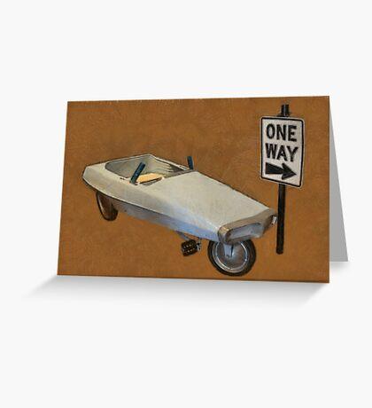 Probe Pedal Car Greeting Card