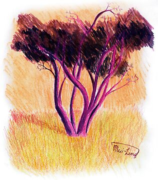"""Purple Tree"" by Mui-Ling Teh"