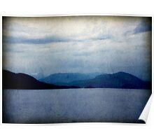 hills ocean sky Poster