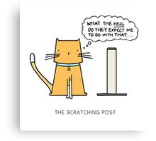 THE SCRATCHING POST Canvas Print