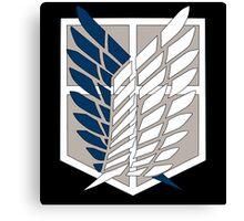 Attack on Titan Scouting Legion Logo  Anime Shingeki no Kyojin Anime t shirt  Canvas Print