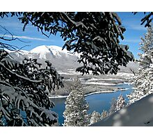 Lake Dillon in Snow Photographic Print