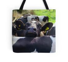 OY! ...whaddya think of these earings mate? Tote Bag