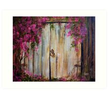Door to my Garden in Acrylic Art Print