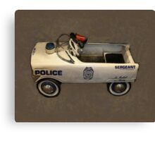 Police Pedal Car Canvas Print