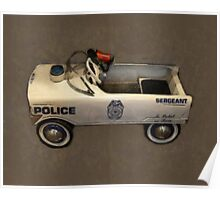 Police Pedal Car Poster
