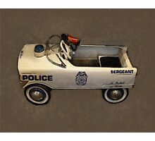 Police Pedal Car Photographic Print