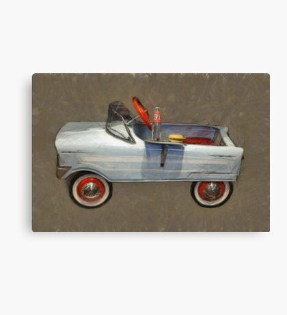 Tee Bird Pedal Car Canvas Print