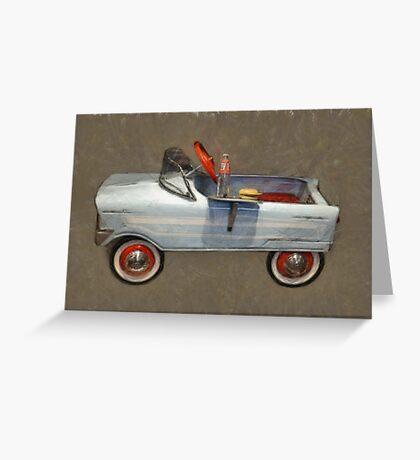 Tee Bird Pedal Car Greeting Card