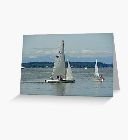 South Puget Sound Sailing Greeting Card