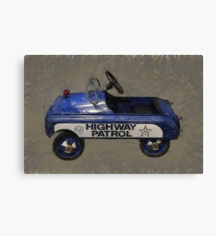 Highway Patrol Pedal Car Canvas Print