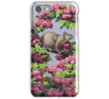 Squirrel in the Blossoms iPhone Case/Skin