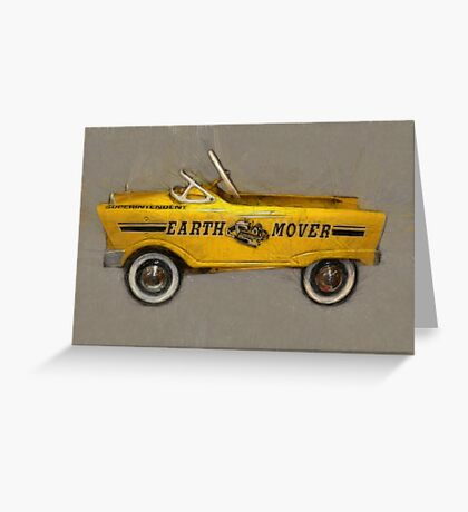 Earth Mover Pedal Car Greeting Card