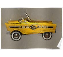 Earth Mover Pedal Car Poster