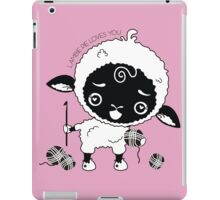 Custom color Lambie Pie sheep lamb crochet hook iPad Case/Skin