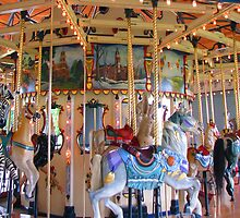 Herritage Carousel Close Up by Linda Miller Gesualdo