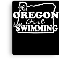 THIS OREGON LOVES GIRL SWIMMING Canvas Print