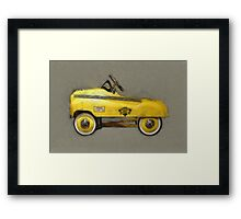 Taxi Cab Pedal Car Framed Print