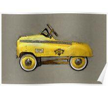 Taxi Cab Pedal Car Poster