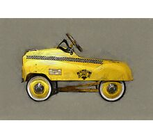 Taxi Cab Pedal Car Photographic Print