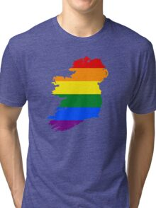 IRELAND GAY MARRIAGE PRIDE MAP Tri-blend T-Shirt