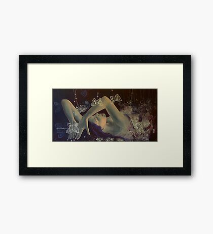 Weaving lace wings... Framed Print
