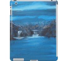 twin falls in blue series iPad Case/Skin